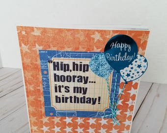 It's my Birthday handmade scrapbook mini album