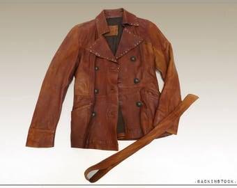 """Jacket woman """"OAKWOOD"""" * T42 * leather vintage * great look"""