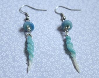 GITD Polymer Clay Jellyfish Earrings
