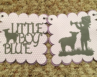 Silhouette Nursury Rhyme Banner Room Decor Baby shower