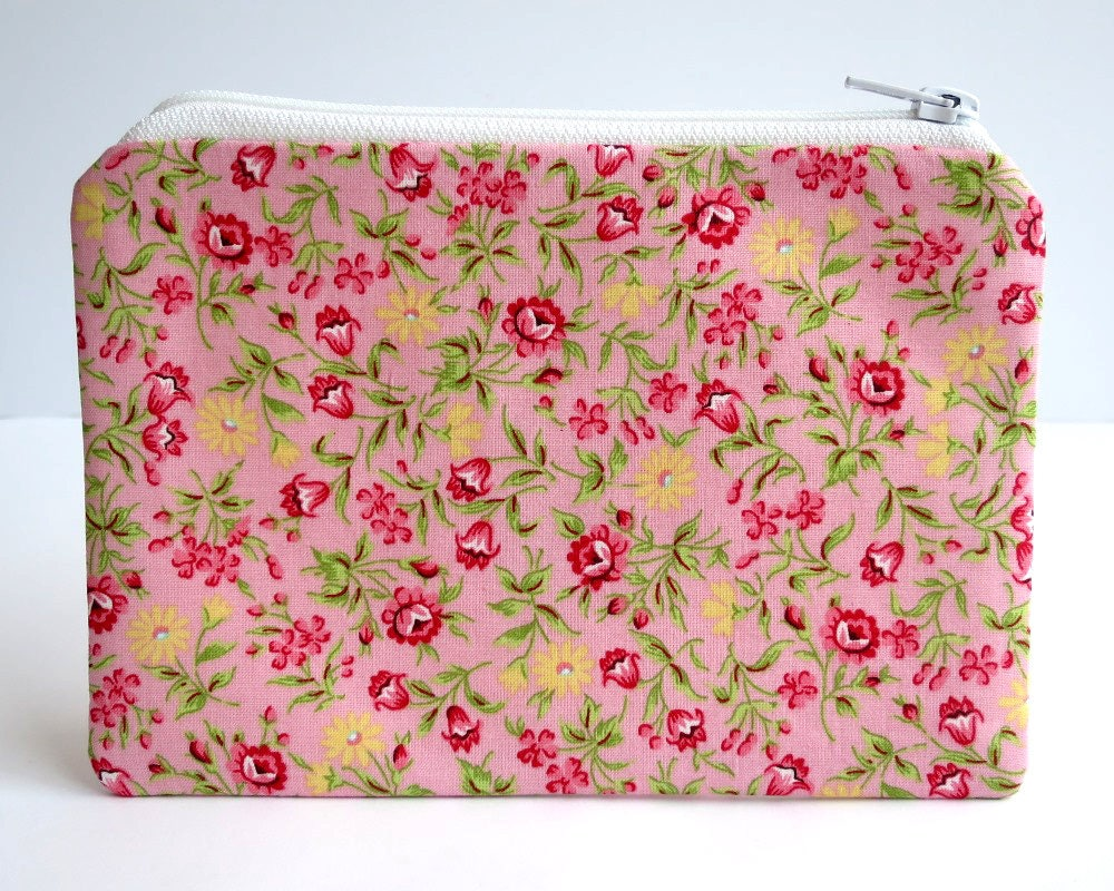 Zip Purse Pencil Case Handbag Organiser Multi Purpose Pouch Pink