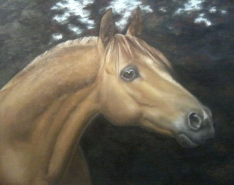 "painting ""Horse""  - 42-54 cm, oil on canvas, handmade, original"