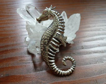 Vintage 1950's Sterling Silver Seahorse pin/ brooch