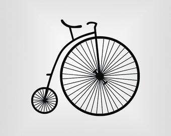 Penny Farthing, Bicycle, Cutout, Vector art, Cricut, Silhouette Cameo, die cut, instant download, Digital Cut, Print Files, Ai, Pdf, Svg