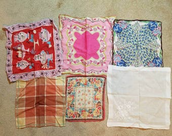 Lot of vintage handkerchiefs 1950's
