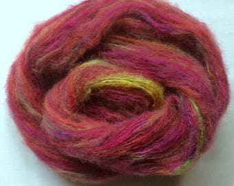HAND-DYED BRUSHED Alpaca/Mulberry Silk Lace Weight Yarn