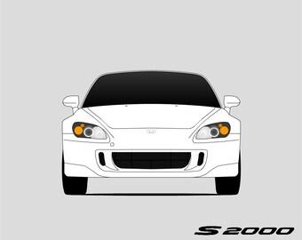 Honda S2000 Print // Honda Art // AP1 AP2
