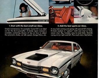 1971 Mercury Comet GT vintage magazine ad  Wall decor (1705)