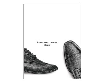 Personalized Groomsmen Note Cards, Wedding Stationery Set, Thank You Cards, Groomsmen Shoes, Wedding Shoes, Groomsmen Stationery Set