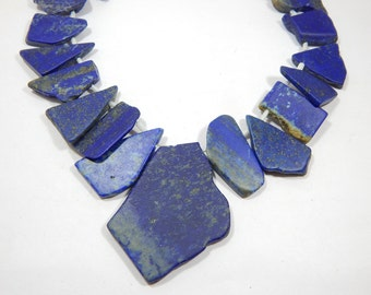 Gemstone 100% Natural Real Lapis Lazuli Rough Beads 14x15 To 35x50 MM Approx Good Quality Wholesale Price