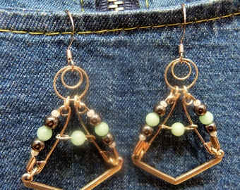 Earrings amazonite Yasta