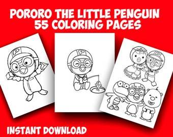Pororo the Little Penguin 55 Coloring Page.