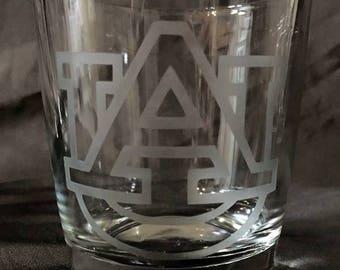 Etched Auburn Whiskey Glasses - Set of 4