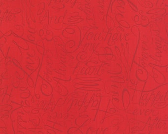 Moda Fabric - Ever After - Deb Strain - Romantic Red - 19741 11 - Cotton fabric by the yard
