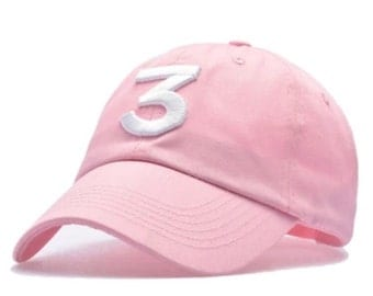 Pink chance the rapper hat
