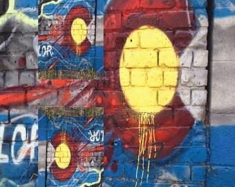 RFID Tyvek Wallet Front Pocket. Original DENCO Wall Art Colorado Splat