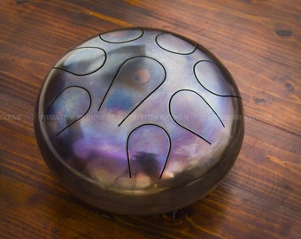 NEW Handmade Handpan Drum Tongue 8 Tones STEEL  Hank Music Instrument