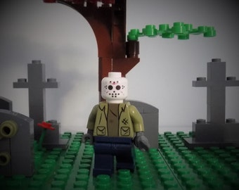 Jason Voorhees from Friday the 13th custom Minifigure made from Lego parts