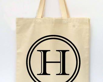 Monogrammed Tote Bag, Beach Tote, Reusable Grocery Bag, Market Tote Bag, Teachers Gift, Canvas Tote Bag, Printed Tote Bag, Shopping Bag
