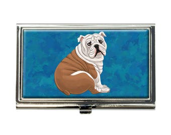 English Bulldog Business Credit Card Holder Case