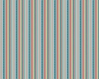 Blue Stripe Fabric - Little Flyers Fabric by Kelly Panacci and Riley Blake Designs C4573 Gray - Blue Cotton Fabric Cotton by the Yard
