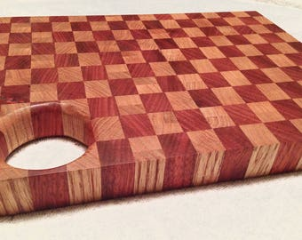 Hand crafted Wood End Grain Cutting Board/Serving Tray