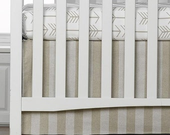 Cloud Linens Stripe Crib Skirt