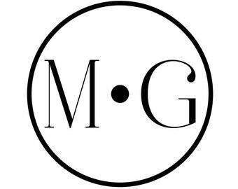 Wedding Logo and Wedding Monogram Circle Dot