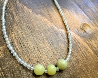 New Jade Necklace 17.5""