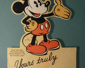 Mickey Mouse - Vintage Advertising Card