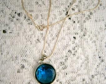 London Blue Pendant/925 chain
