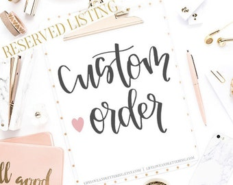 Custom Poster Orders for Laura and Jamie