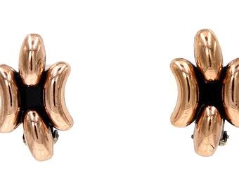 Renoir Copper Crescent Earrings