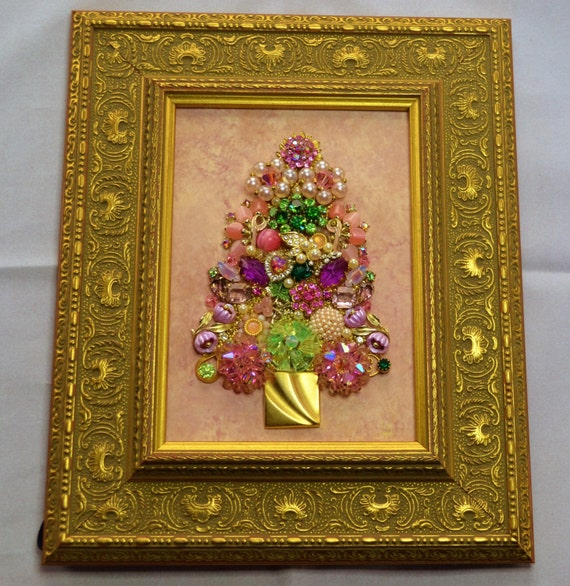 Items Similar To Vintage Framed Jewelry Art Home Decor Family Heirloom Art Ooak Unique Home