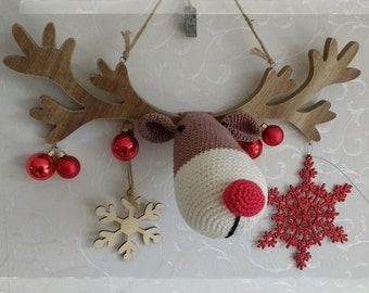 Rudolph the red nose Reindeer Crochet