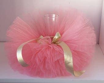 coral and gold tutu- baby coral gold tutu- tutu skirts- coral tutu skirts- toddler tutus- birthday girls tutus- baby tutu- handmade tutu
