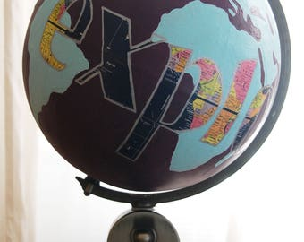 EXPLORE Globe Piggy Pank Hand Painted