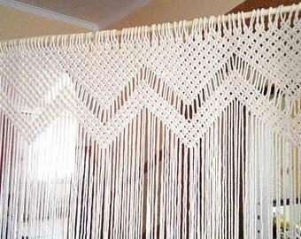 Wedding Arch Macrame/ Macrame curtain/ Bohemian Window, Macrame Wedding Arbour, Wedding backdrop