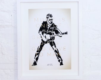 George Michael Music Quote Print, George Michael Print, George Michael fan, Music Typography Print.