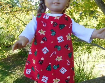 Christmas jumper and tee for 18 inch dolls