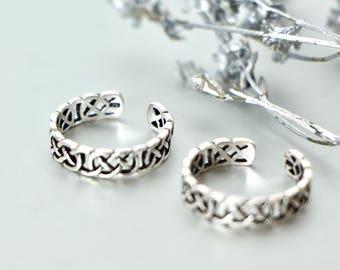 Silver Toe Ring Set, Fashionable Toe Rings, Adjustable Toe Ring, Minimalist Toe Rings, Inspired Women, Gift Item, Funky Toe Ring, (TS24)