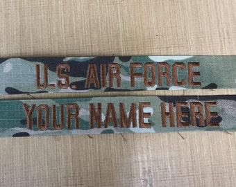 OFFICIAL USAF Multicam name tapes