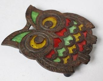 Vintage Owl Trivet / Hot Plate