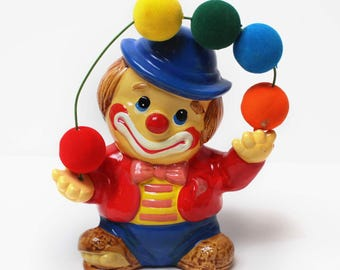 Vintage Juggling Clown Bank