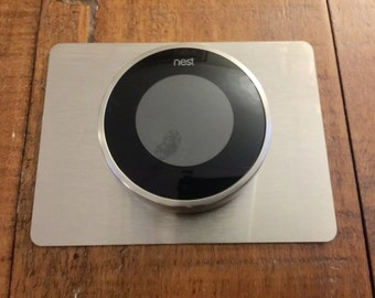 "Nest Thermostat Stainless Steel Wall Plate Backplate 5.88"" x 4.38"""