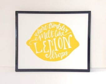 Lemon Drop Print