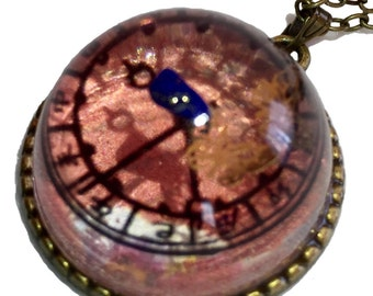 """Necklace """"ancient clock dial of Japanese"""""""