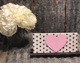 Pink Heart Plaque