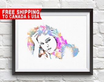 Selena Gomez Print, Selena Gomez Poster, Selena Gomez Art, Home Decor, Gift Idea, Free shipping to canada & usa