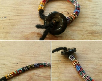Ndebele Beaded Bracelet (7 inches long)